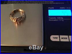 James Avery -Retired- SALE- 14K Gold Heart Vine Flower Ring- Beautiful Sz. 7