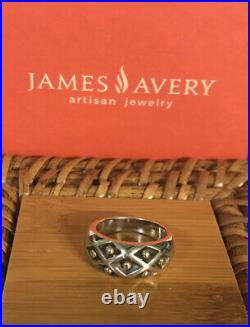 James Avery Retired Silver And 14k Gold Spanish Lattice Ring Size 5.5