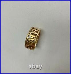 James Avery Retired Size 10 Yellow 14 Kt Gold LOVE FAITH HOPE Ring