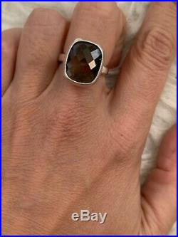James Avery Retired Smoky Quartz Sterling Silver Ring