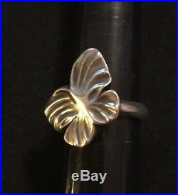 James Avery Retired Soft Butterfly Ring Size 8.25