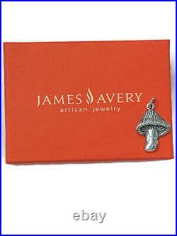 James Avery Retired Sterling 925 Mushroom Charm Pendant Uncut Jump Ring w JA Box