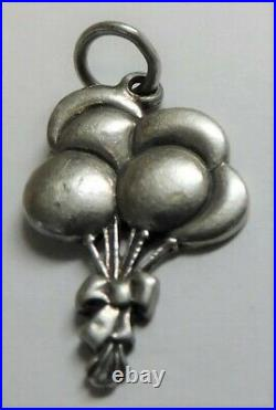 James Avery Retired Sterling Balloon Bouquet Uncut Ring Charm