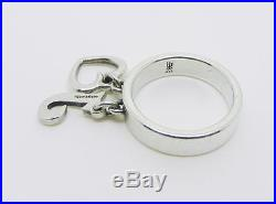 James Avery Retired Sterling Silver Dangle Ring With Letter J And Heart Charms
