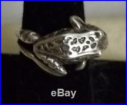 James Avery Retired Sterling Silver Frog Wrap Ring Size 7