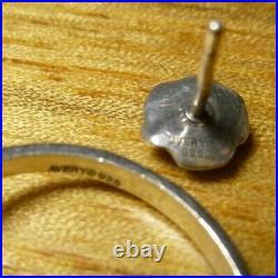 James Avery Retired Sterling Silver Rose stud Earrings & Rose Ring Size 7
