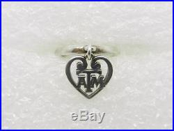 James Avery Retired Sterling Silver Texas A&m Dangle Charm Ring Sz 3.5 -lb-c1001