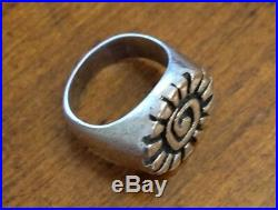 James Avery Retired Sun Ring Size-10 Sterling Silver Preowned