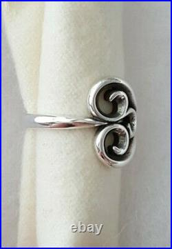 James Avery Retired Swirl Heart Ring Size 7.5 New Condition