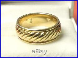 James Avery Ring Band 14K Yellow Gold Size 8