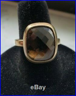 James Avery Smokey Topaz Sterling Silver Ring Sz 7