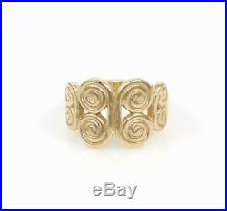 James Avery Solid 14K Yellow Gold Mycenaean Ring Size 4.5