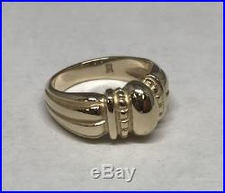 James Avery Solid 14k Gold Thatch Ring Size 7.5 A