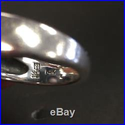 James Avery Square Beaded Dome Ring Sterling/ 14kt Retired size 6.5