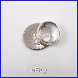 James Avery Sterling Silver 14K Eternity Heart Love Retired Ring Size 6 LDH17