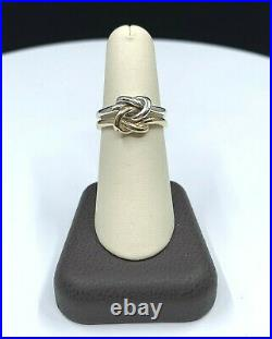 James Avery Sterling Silver 14K Gold Original Lovers Knot Ring Size 7 1/2