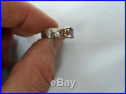 James Avery Sterling Silver & 14K Julietta Ring with Amethyst Stone Size 6.5