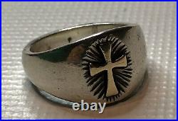 James Avery Sterling Silver/14K Yellow Gold Celtic Cross Ring Size 6.5 Retired