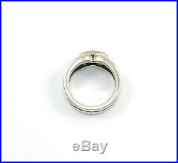 James Avery Sterling Silver 14K Yellow Gold Enduring Bond Band Ring Size 6.5