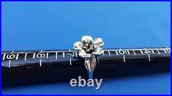 James Avery Sterling Silver & 18k Gold April Flower Ring Size 6 1/4 RETIRED