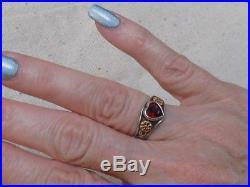 James Avery Sterling Silver/925 & 14kt Ruby Heart RingSize 6Retired