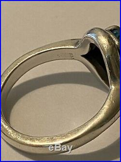 James Avery Sterling Silver Adriana Ring With Blue Topaz Size 8