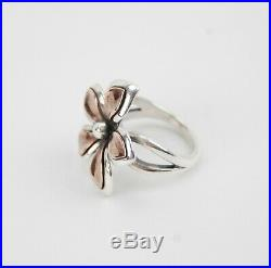 James Avery Sterling Silver COPPER PETALS FLOWER Ring Size 7 Retired