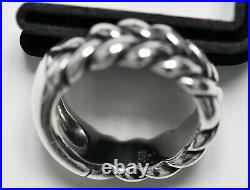 James Avery Sterling Silver Cable Engravable Band Ring Size 10 Braid