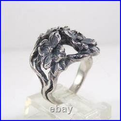 James Avery Sterling Silver Dogwood Flower Ring Size 5.5 LFL3
