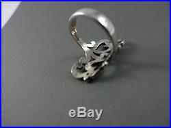 James Avery Sterling Silver Double Heart Scroll Ring Sz 5.5