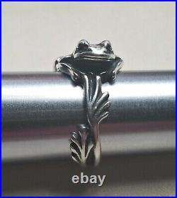 James Avery Sterling Silver Frog Ring Size 9 Retired