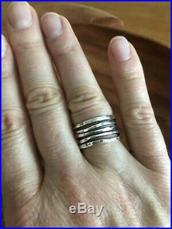 James Avery Sterling Silver Hammered Ring Size 8