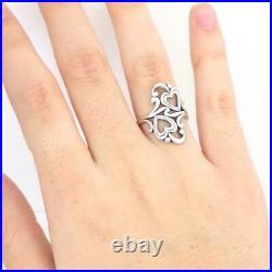 James Avery Sterling Silver Heart Love Scroll Swirl Ring Size 7.5 LJE4