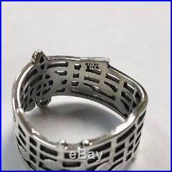 James Avery Sterling Silver Musical Note Ring Sz. 8 Q1