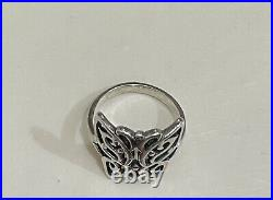 James Avery Sterling Silver Open Butterfly Ring Size 7 Retired