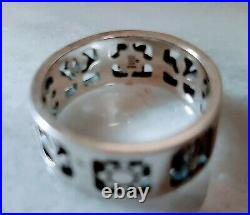 James Avery Sterling Silver Retired Four Seasons Band Ring 8.5 (6g)