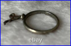 James Avery Sterling Silver Retired Letter A Charm Dangle Ring Size 8
