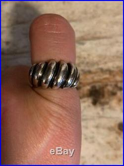 James Avery Sterling Silver Retired Ring & Earring set Wave