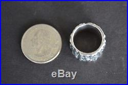 James Avery Sterling Silver Ring Tree Bark Design Hefty Weight
