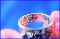 James Avery Sterling Silver Script Adoree Topaz Ring Size 5.75