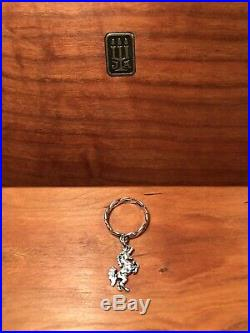 James Avery Sterling Silver Unicorn Dangle Twisted Wire Ring Size 6 ULTRA RARE