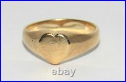 James Avery Tiny Heart Ring 14k Gold Retired Size 4.75