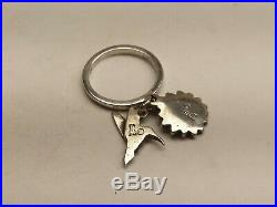 James Avery Tiny Hummingbird And Sunflower Ring Size 4.5, Retired! (20004490)