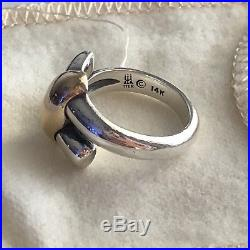 James Avery Two ToneSterling Silver 14k Gold Ring, Size 5.5