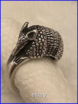 James Avery Vintage Sterling Silver 925 Armadillo Ring Hallmarked Size 6.5-7 EUC