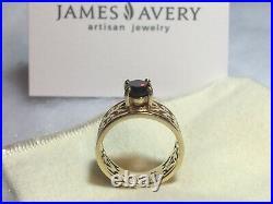 James Avery (retired) Adoree Garnet Ring 14k yellow gold Size 7