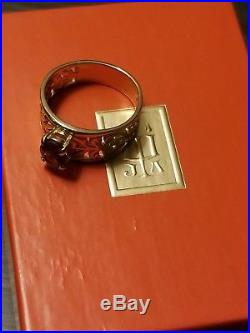 James avery open adorned 14k yellow gold and amethyst ring retired