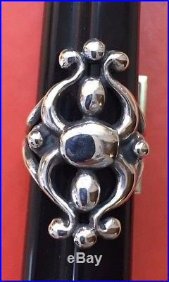 Lovely Retired Hard to Find James Avery Sterling Silver Glorietta Ring Size 7.5