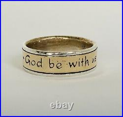 Mens James Avery God Be With Us. 925 And 14k Gold Wedding Ring Sz 10.5 Retired