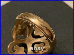 NEW James Avery 14k gold ring ADORNED HEARTS sz 6